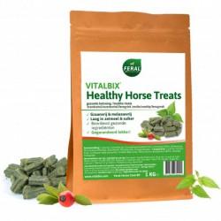 Vitalbix healthy horse treats. Rozenbottel, brandnetel en fenegriek