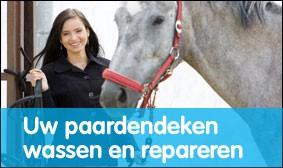 Uw paardendeken wassen en repareren